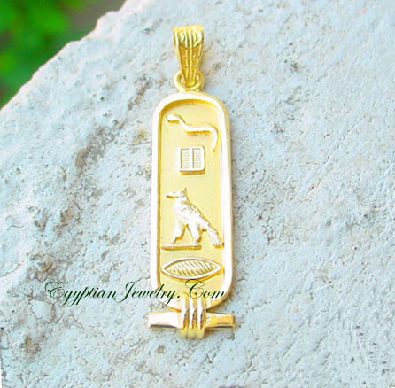 Cartouche gold Jewelry