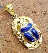Gold Egyptian Scarab